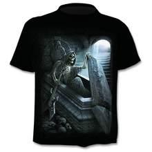Drop Ship Summer New 3D Skull T-Shirt Men and Women Hip Hop Funny Casual T-Shirt Short Sleeve O-Neck Top Fashion HarajukuT-Shirt