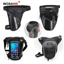 WOSAWE Men's Oxford Motorcycle Drop Leg Bag Camping Hiking Waist Bag Fanny Pack Racing Hip Bum Belt Tactical Thigh Pouch