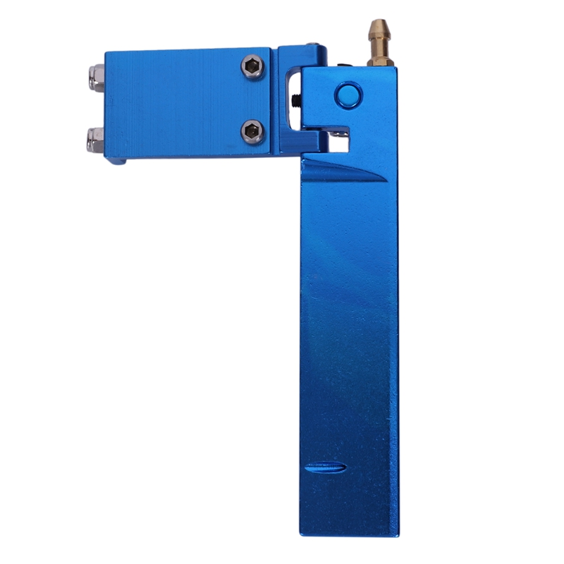 Aluminum Long Rc Boat Rudder With Water Pickup Absorbing Steering For Electric Gas Remote Control Model Parts Cnc(Blue 95Mm)