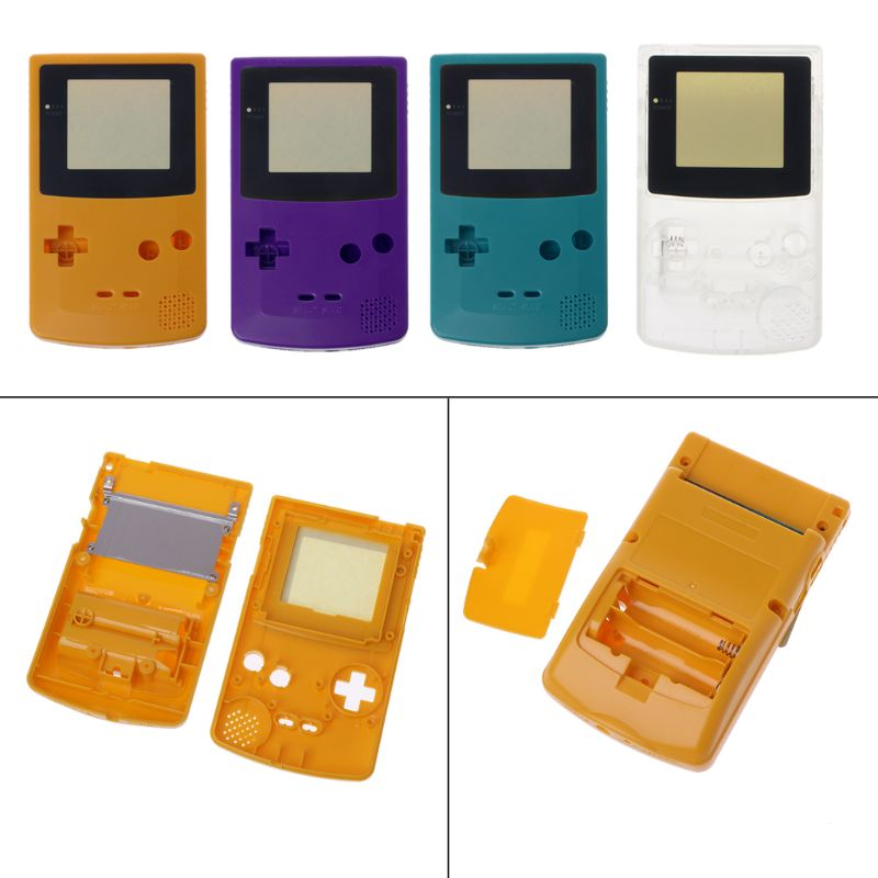 New Full Housing Shell Cover for Nintendo <font><b>Game</b></font> <font><b>boy</b></font> <font><b>Color</b></font> GBC Repair Part Housing Shell Pack image