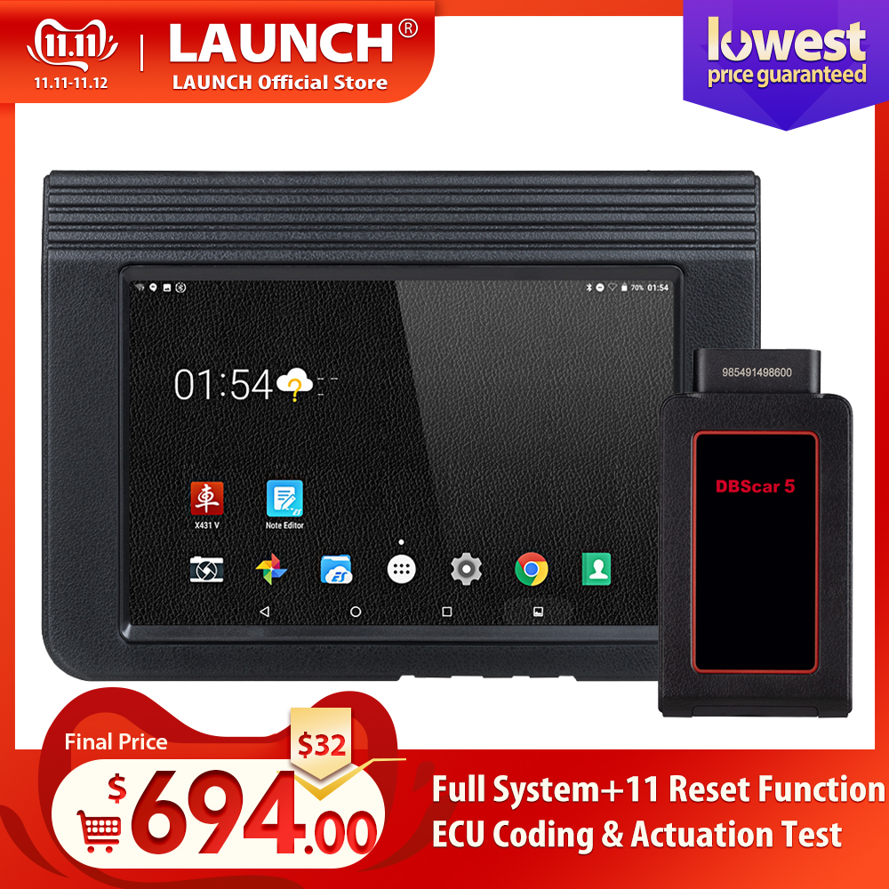 Launch X431 V 8inch Car full system OBD2 Scanner Diagnostic Auto Tool OBDII Code Reader support Bluetooth/Wifi Multi language-in Multimeters & Analyzers from Automobiles & Motorcycles