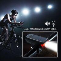 사이클링 태양 전원 Led 빛 방수 Usb 충전식 자전거 전면 헤드 라이트