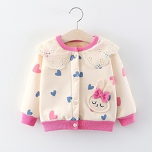 Cute Baby Girls Clothes Cartoon Rabbit Pattern Jackets Coats