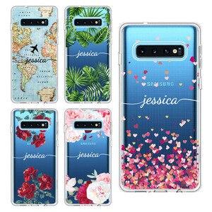 Персонализированный заказной оригинальный цветочный чехол для телефона Samsung Galaxy Note 8 9 10 A7 A8 S8 S9 S10 S20 Plus Мягкий защитный чехол