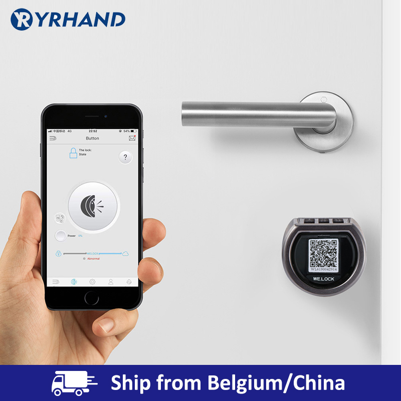 Smart Cylinder Lock With APP Keyless Electronic Door Lock Bluetooth Lock Digital Code RFID Card Electric Lock title=