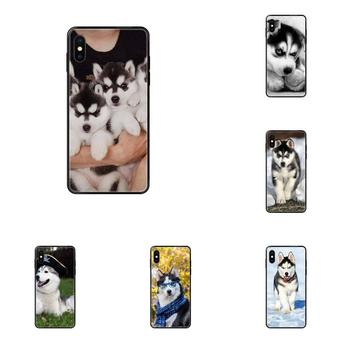 Lovely Husky Puppy Drawing TPU For Samsung Galaxy A5 A6 A7 A8 A10 A10S A20 A20S A20E A21S A30S A40 A50 A70 A71 A70E image