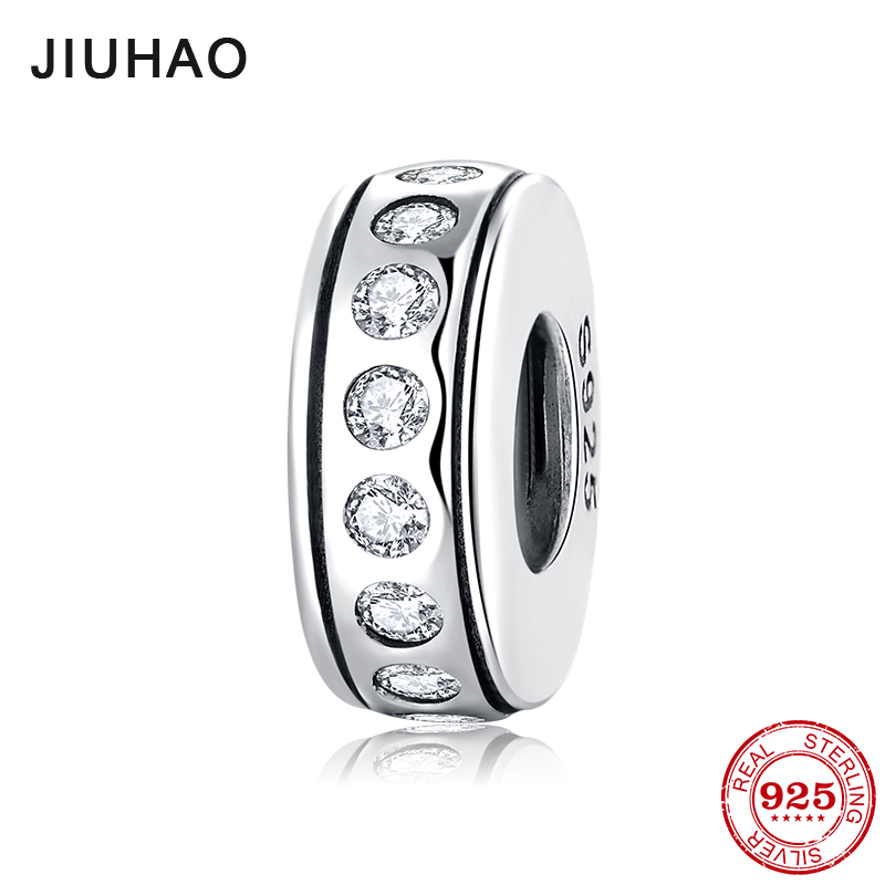 Fashion 925 Sterling Silver Sparkling Multiple CZ Stopper Spacer Beads Fit Original Pandora Charm Bracelet Jewelry Making