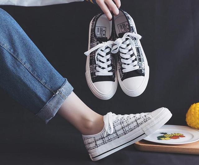 Сезон: Весна/женская летняя обувь на высокой платформе; Парусиновая