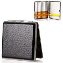 Tobacco-Holder Cigarette-Box Smoker Classic Men Gift Portable 20pcs Metal for Large-Capacity
