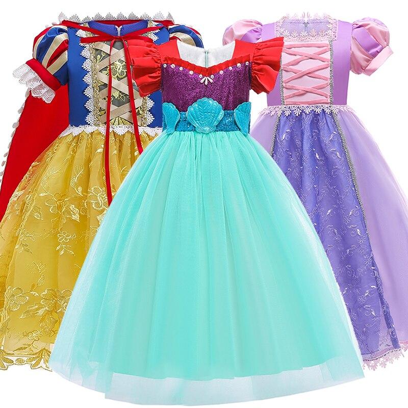 Vestido de aniversário vestidos de festa traje meninas roupas de princesa vestido de roupas para crianças