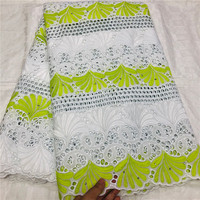 Swiss Voile Lace Embroidered 2020 African Lace Fabric With Stones/Beaded Swiss Voile Cotton Lace Fabric For Clothes 4L100501