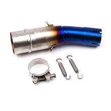 For Xmax 300 Exhaust slip-on middle pipe for Yamaha X-MAX 250 400 cc 2017 2018 Xmax300 Xmax250 Xmax400 Motorbike Accessories