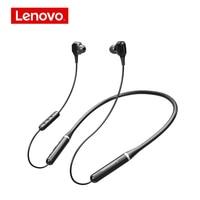 Lenovo-auriculares inalámbricos XE66 Pro, con banda para el cuello, Bluetooth, 4 altavoces estéreo HIFI llamada HD, resistentes al agua con micrófono