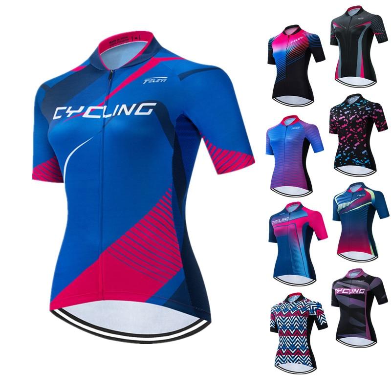 Biker Chick on a Bike Women/'s Short sleeve Half zip cycling jersey