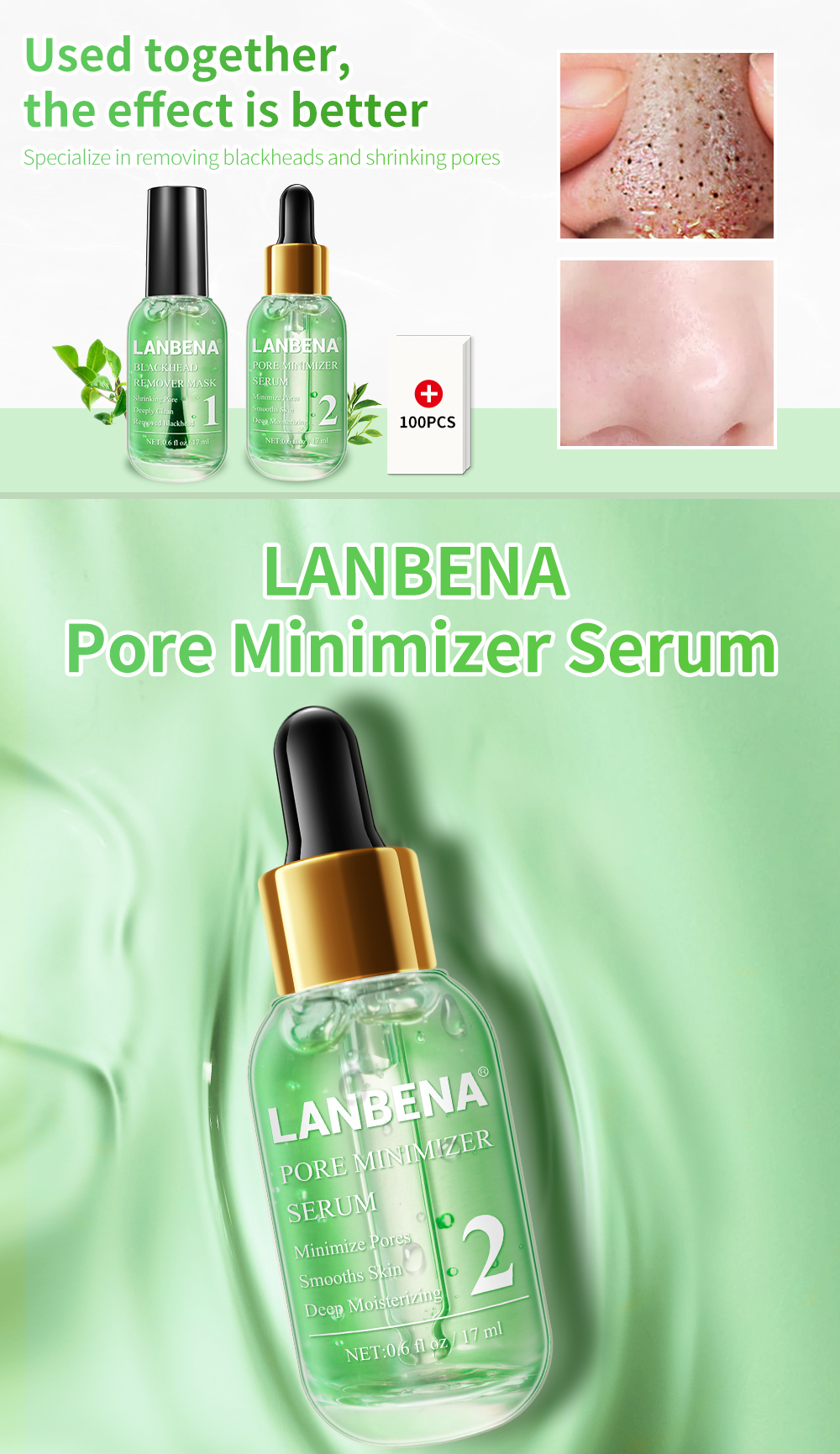 Lanbena Shrink Pores Peeling Deep Cleaning Acne Treatment Essence