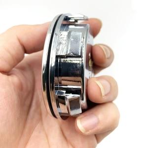 Image 5 - 4 ピース/セットホイールハブライトカーアクセサリー磁気サスペンション led フローティングホイールキャップ照明ハブキャップライト