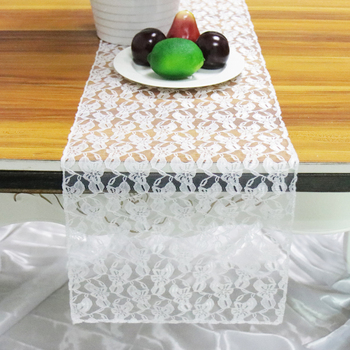 1pcs  White Lace Table Runner Floral Table Cover Modern for Wedding Decor Home Hotel Birthday Party Table Decor Supply 30*275cm winsome home decor traditional xola console table cappuccino finish