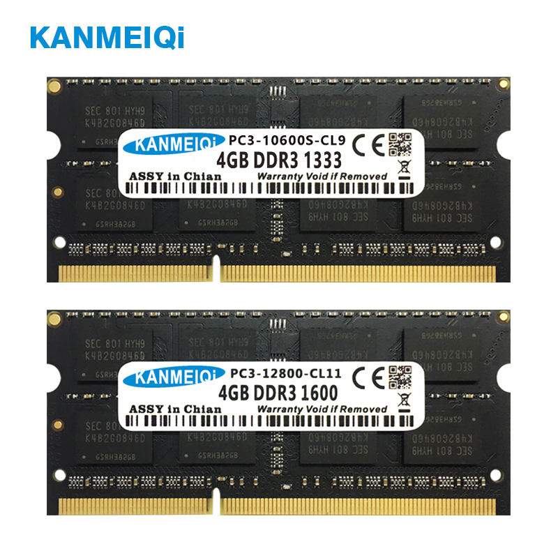 KANMEIQi DDR3 2GB/4GB/8GB Laptop Memory With Dual Channel Support 4