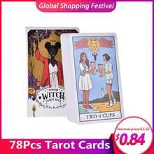 Cartas de oráculo del Tarot de la bruja moderna, cartas de juegos de mesa en inglés, cartas de entretenimiento para fiesta familiar, 78 Uds.