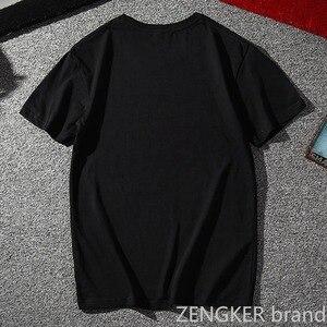 Image 2 - Plus size verão camiseta 8xl super grande tamanho solto maré manga curta camiseta em torno do pescoço 10xl 9xl 7xl