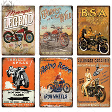 Motorcycle Tin Signs Retro Metal Sign Plaque Metal Vintage Wall Decor for Garage Bar Pub Man Cave Decorative Plate Iron Painting(China)