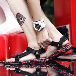 Image 4 - SHOFORT Scarpe Da Uomo Traspirante Selvaggio Degli Uomini Sandali Sandali Freddi Scarpe Da Spiaggia degli uomini di Estate Più Il Formato di Moda Allaperto Casual Zapatos De hombre
