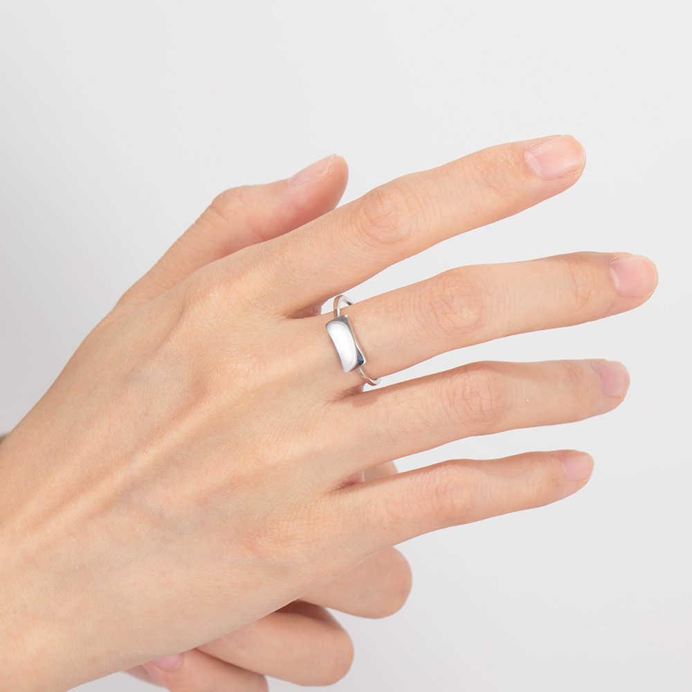 Kustom Pribadi Nama Signet Rings 925 Sterling Perak Berukir Perhiasan untuk Wanita BBF Hadiah Ulang Tahun