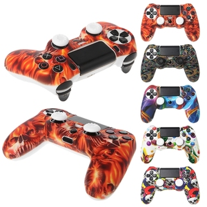 Image 3 - Silicone Gamepad Skin Grip Cover Protector Case + 2 Caps Kit For PS4 Controller Retailsale