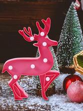 Christmas Decorative Night Light LED Table Lamp Elk Nightlight Home Party Decoration 3D Desk Xmas Gifts