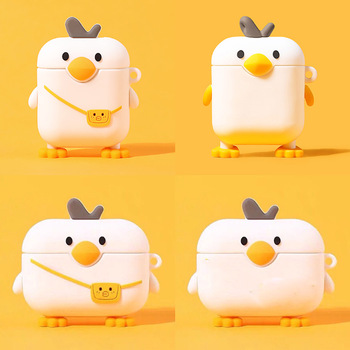 For Airpods Pro Case Silicone Duck Cartoon Cover For Wireless Airpods Case Cute Earphone Headphone Case For Apple Airpods Pro cute cartoon case for apple airpods fries burger create cover wireless bluetooth earphone case for apple airpods 2 a30