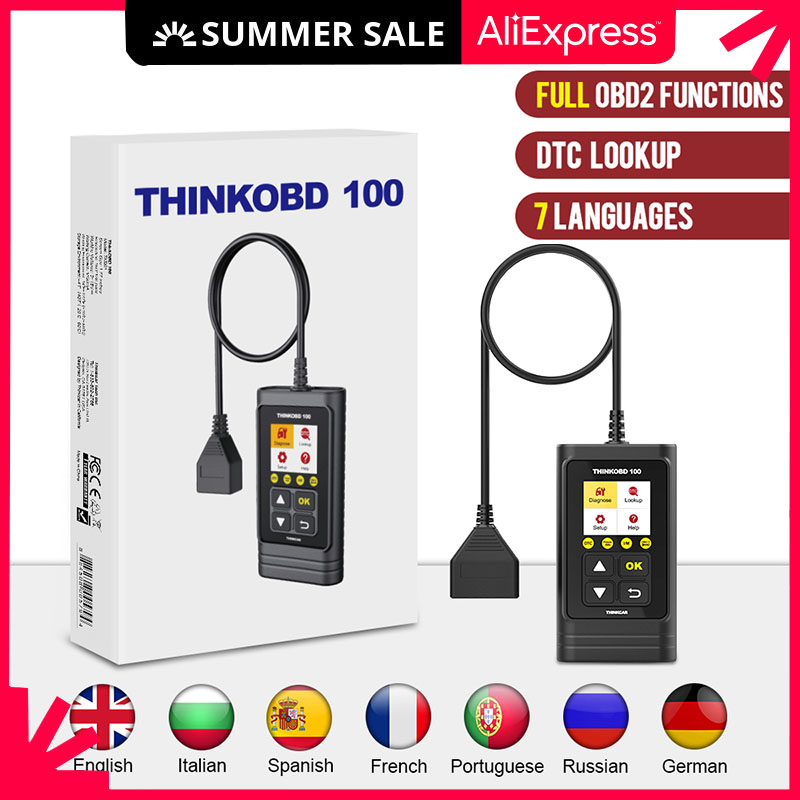 TINKCAR THINKOBD100 OBD2 Code Reader Car Daignostic Tool Lifetime update Auto obd 2 Scanner Easydiag pk ELM327 Universal