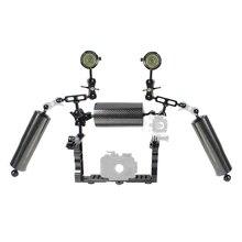 BGNING Dual Arm Scuba Diving Bracket Flashlight Tray Stabilizer Mount Handheld Holder w/ Buoyancy Arm for Gopro Action Camera