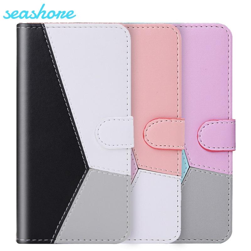 Capa de couro bloco de cor, capa para redmi k30 xiaomi redmi 8 note 8t 8 7 7s capa magnética flip 6 pro k20 y3 7a 7