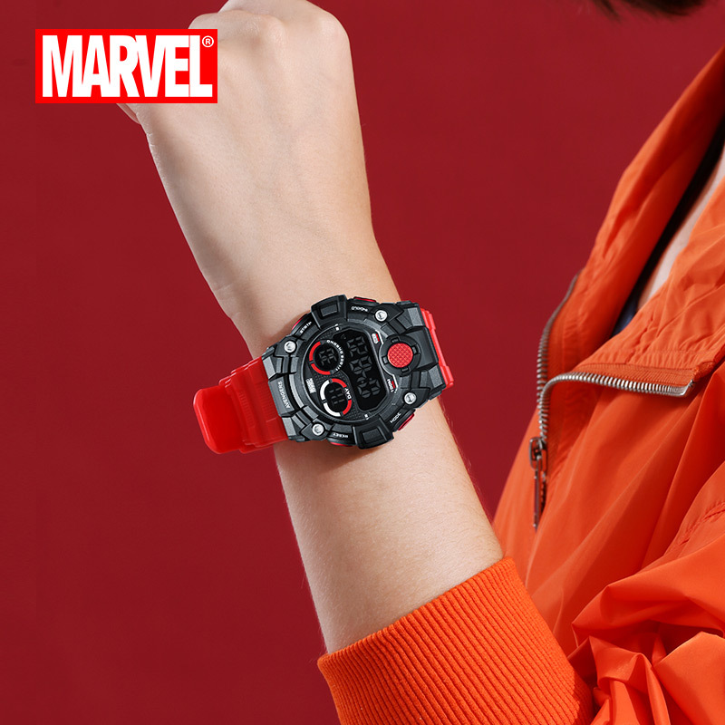 Мужские спортивные часы, двойной дисплей, аналоговый цифровой светодиодный, электронные кварцевые наручные часы, водонепроницаемые, 50 м, ал... - 3