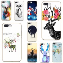 Soft Case Cover For Samsung Galaxy A10 A30 A40S A50 A60 A70 S6 Active Note 10 Plus Edge M30 Beautiful Christmas deer flower deer(China)