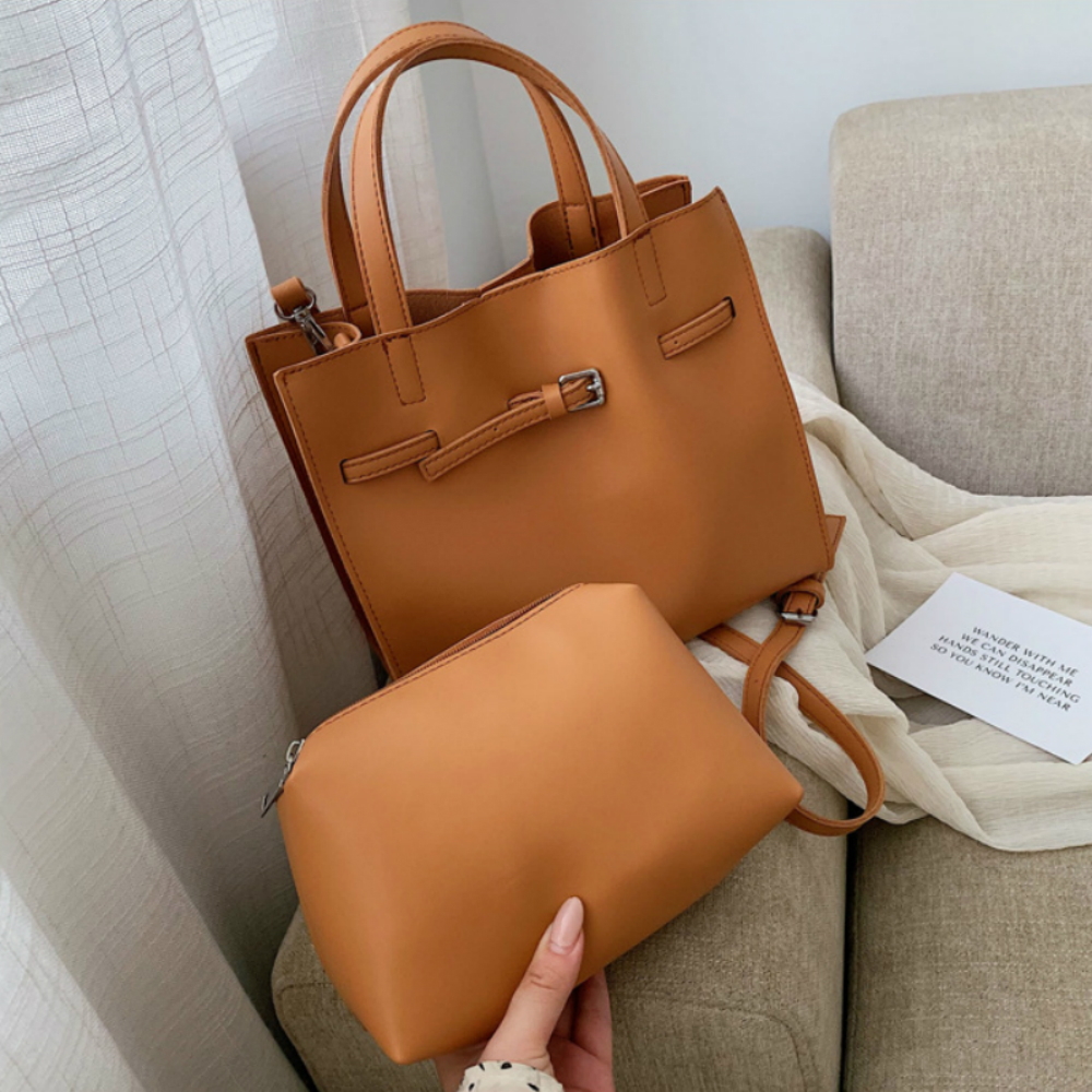 Large Capacity Handbags 2Pcs/Set Composite Bags For Women Quality  Leather Female Shoulder Bag Ladies' Crossbody Travel Bag Sac