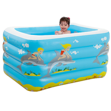 Children's Home Use Paddling Pool Inflatable Square Swimming Pool Heat Preservation Baby Pool Kids Children's inflatable Pool multifunctional castle shape inflatable paddling pool swimming pool for kids made of nontoxic high density tough pvc play pool