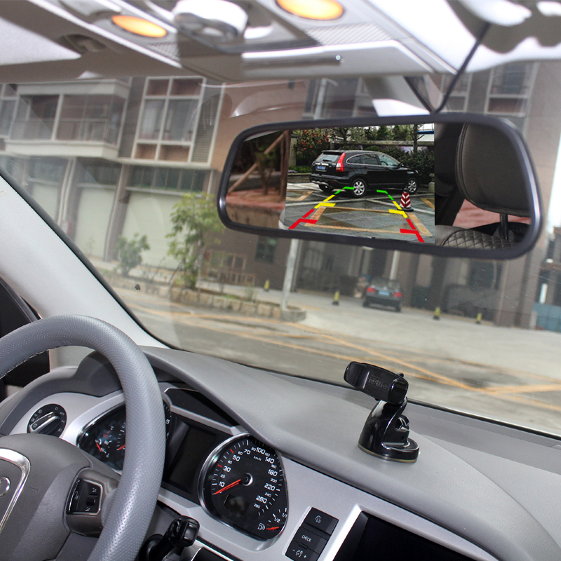 2019Car Parking Mirror Monitor 5 Inch HD Display 800*480 LCD Video Reversing For Rear View Camera Parking Assistance System