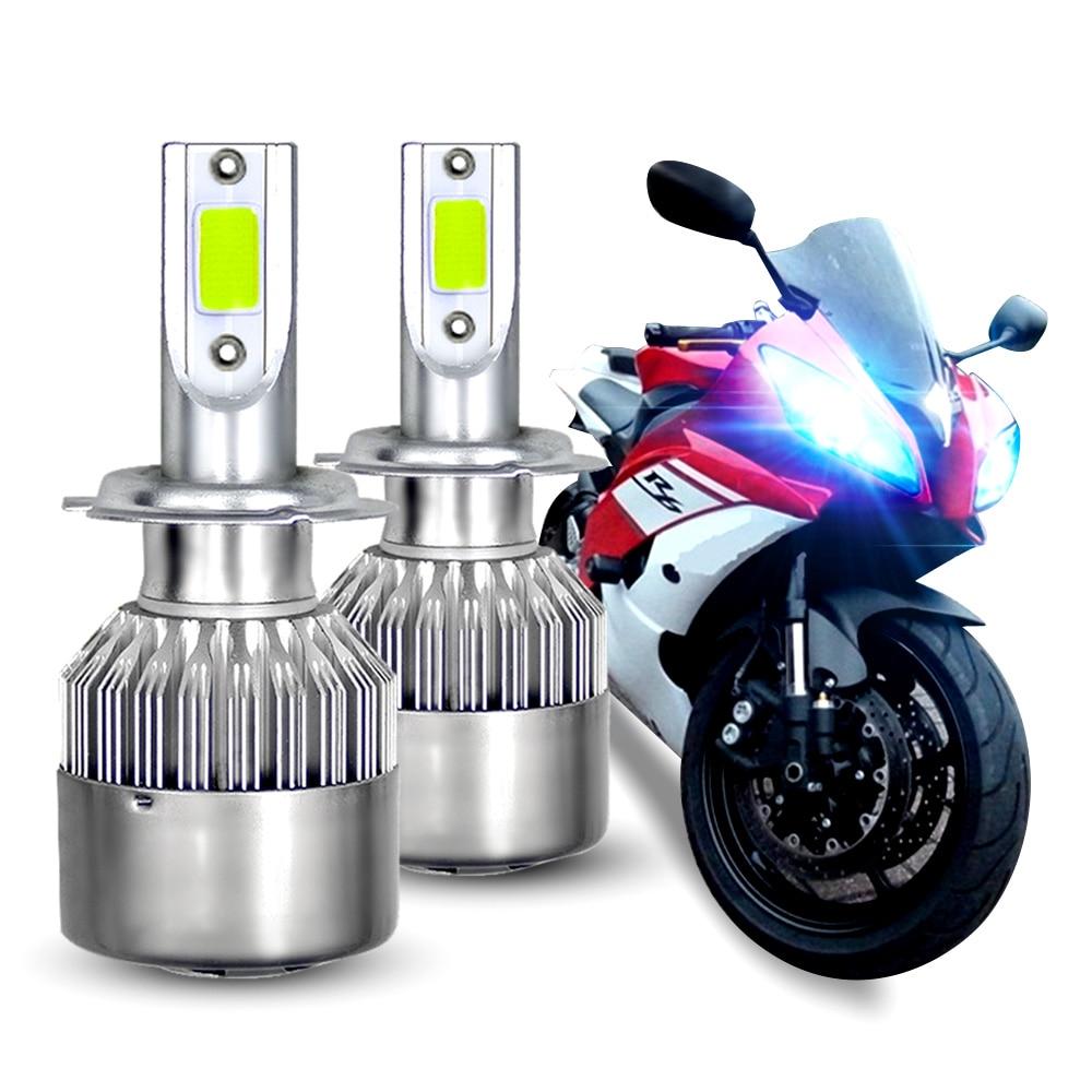 2 шт. H7 светодиодные лампы фар для Yamaha YZF R6 2003-15 YZF R1 2007-2014 8000K Ice Blue Противотуманные фары дальнего света ближнего света