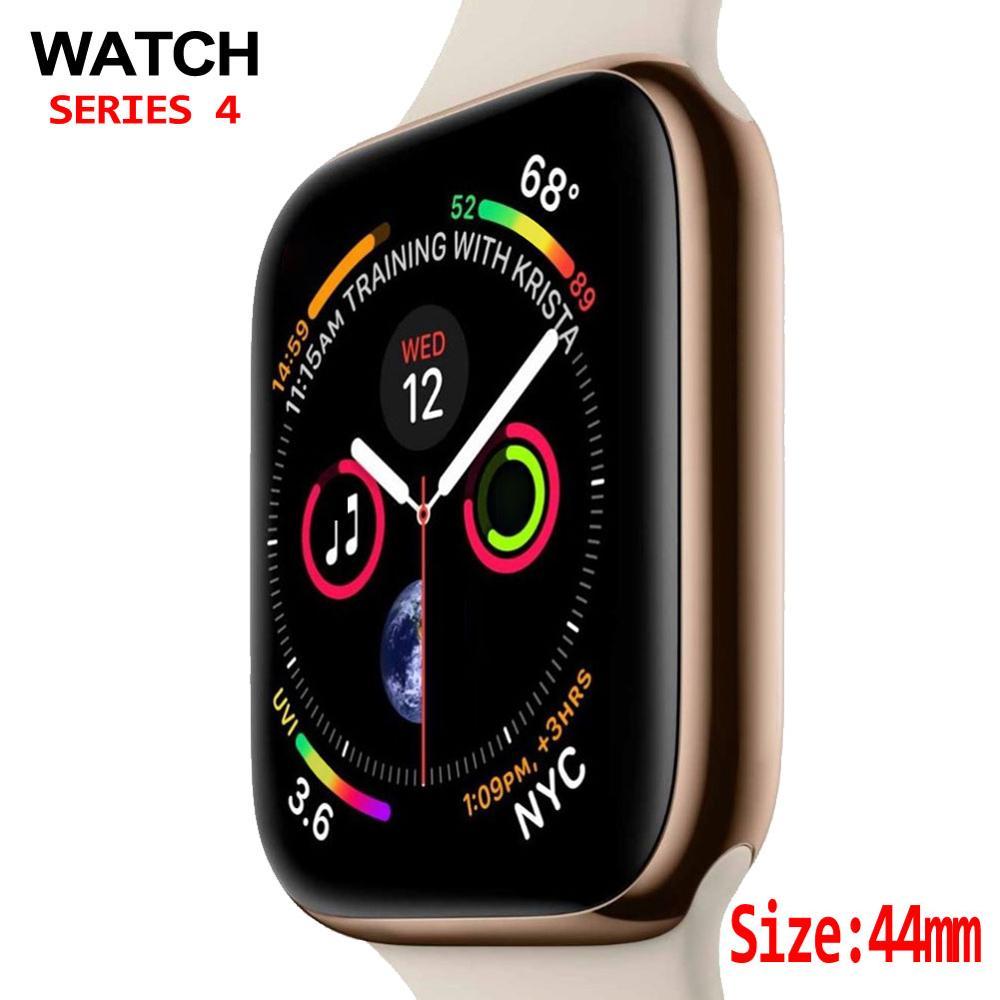 Смарт-часы серии 4 1:1 чехол для смарт-часов Apple Watch iOS iphone Android телефон с пульсометром ЭКГ шагомер 44 мм Bluetooth