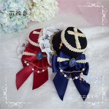 Lolita red wine red dress hat can take baby JSK soft sister coser diffuse hat Lolita(China)