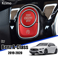 Автомобильный Стайлинг для Mercedes Benz A Class W177 GLE W167 GLB интерьер Авто старт стоп двигатель кнопка переключения кнопки крышка наклейки отделка