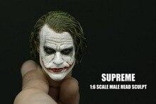 1/6 Bilancia Batman Joker Headplay Heath Ledger Testa Scolpire con Trucco Pesante Maschio Headplay per 12 Pollici FAI DA TE Action Figures