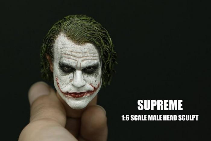 1/6 весы Бэтмен Джокер хедплей хит Ledger голова лепить с тяжелым макияжем мужской головной убор для 12 дюймов DIY фигуркиИгровые фигурки и трансформеры    АлиЭкспресс