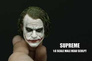 Image 1 - 1/6 Scale Batman Joker Headplay Heath Ledger Head Sculpt with Heavy Makeup Male Headplay for 12 Inches DIY Action Figures