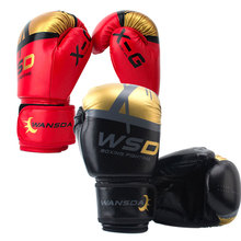 Unisex Kick Boxing Gloves Adults / Kids PU Karate Muay Thai Guantes Boxing Gloves fitness Training Equipments