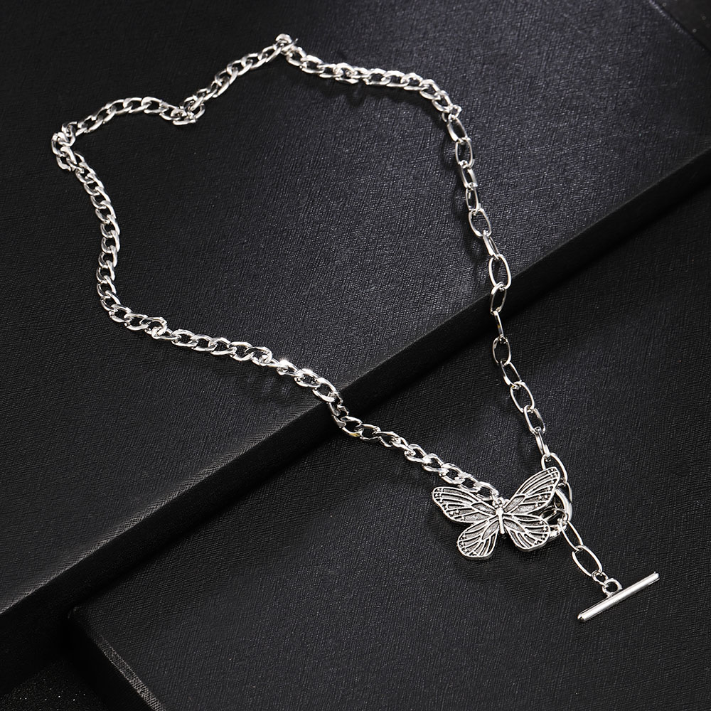Animal PEQUEÑO mariposa colgante estrellas collares para mujeres gran oferta de Color plata Cadena de clavícula collares, joyas de accesorio