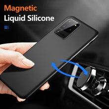 Ультратонкий Магнитный чехол из жидкого силикона для телефона