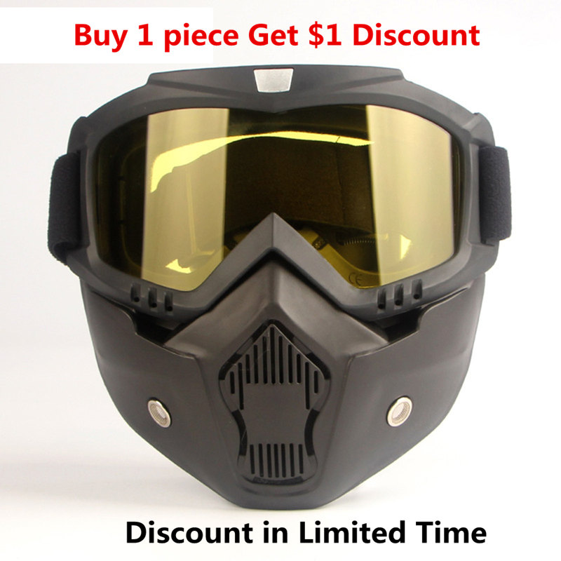 Protective Face Mask Motorcycle Helmet Filter Goggles Eyewear Workplace Safety Supplies Casco Seguridad Trabajo Maska Ochronna