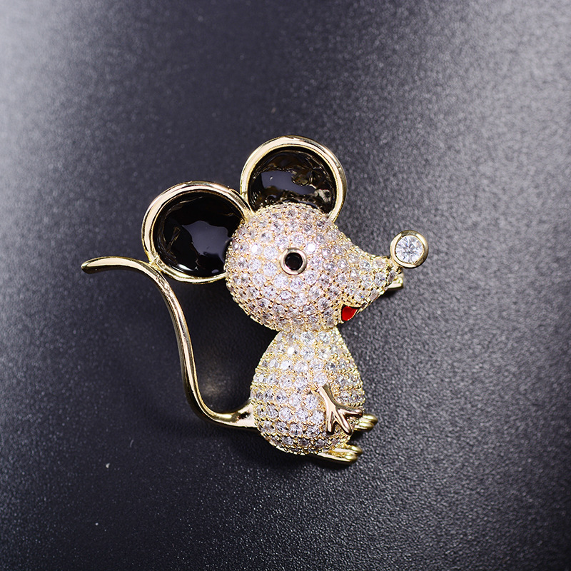 Bad Guy Zircon Brooches for Women's Mouse Brooches Pins Fashion Pins Accessories for Clothes Decoration Brooch Medical Cute Pins-1
